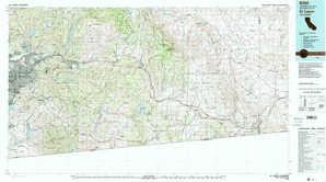 El Cajon topographical map