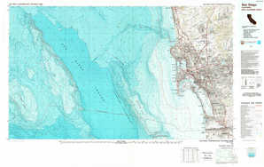 San Diego topographical map