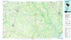 Kingstree topographical map