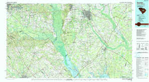 Sumter topographical map