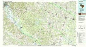 Barnwell topographical map