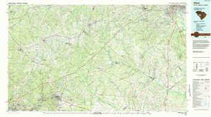 Aiken topographical map