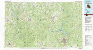Milledgeville topographical map