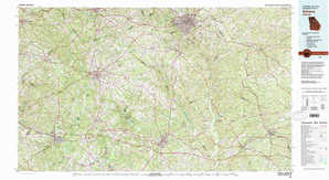 Athens topographical map