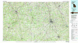 Griffin topographical map