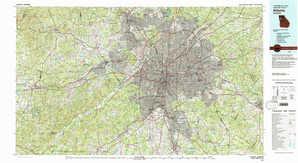 Atlanta topographical map