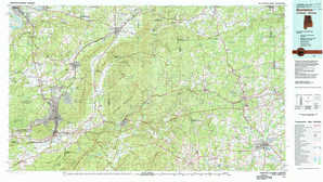 Anniston topographical map