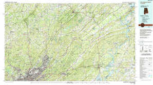 Birmingham North topographical map