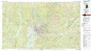 Tuscaloosa topographical map
