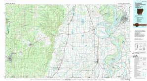 Crossett topographical map