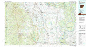 Dumas topographical map