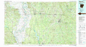 Magnolia topographical map