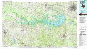 Texarkana topographical map