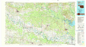 Idabel topographical map