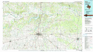 Paris topographical map