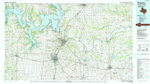 Sherman topographical map