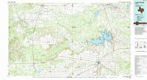 Lake Kemp topographical map
