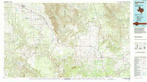 Aspermont topographical map