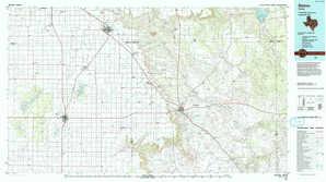 Slaton topographical map