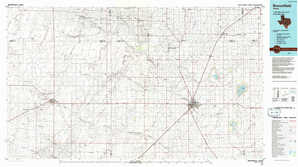 Brownfield topographical map