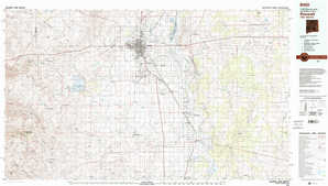 Roswell topographical map