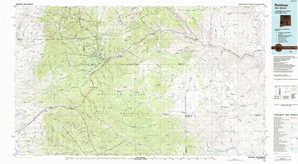 Ruidoso topographical map