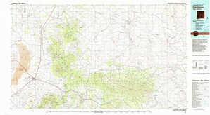 Carrizozo topographical map