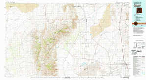 Tularosa 1:250,000 scale USGS topographic map 33106a1