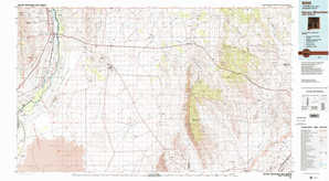Oscura Mountains topographical map