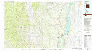 Truth Or Consequences 1:250,000 scale USGS topographic map 33107a1