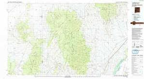 San Mateo Mountains 1:250,000 scale USGS topographic map 33107e1