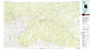 Seneca 1:250,000 scale USGS topographic map 33110e1