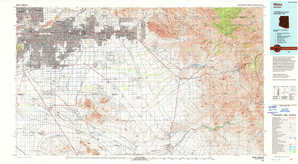 Mesa 1:250,000 scale USGS topographic map 33111a1