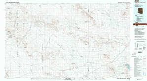 Little Horn Mountains topographical map