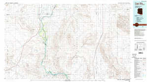 Trigo Mountains topographical map