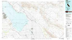 Salton Sea topographical map