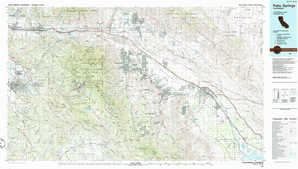Palm Springs topographical map