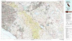 Santa Ana topographical map