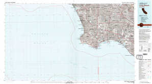 Long Beach topographical map