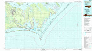 Morehead City topographical map