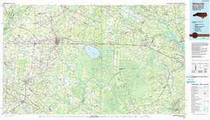 Whiteville topographical map