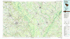 Florence topographical map