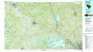 Newberry topographical map