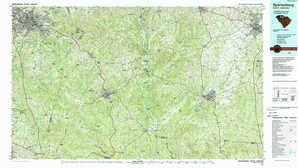 Spartanburg topographical map
