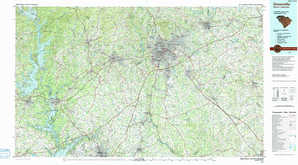Greenville 1:250,000 scale USGS topographic map 34082e1