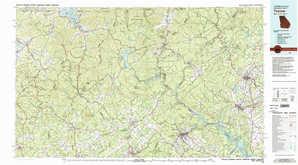 Toccoa 1:250,000 scale USGS topographic map 34083e1