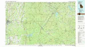 Dalton topographical map