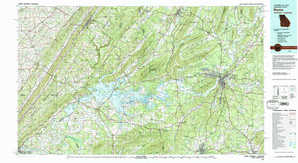 Rome topographical map