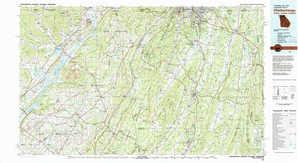Chickamauga topographical map