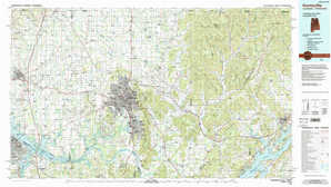 Huntsville topographical map